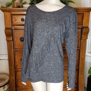I.N.C. Women's Long Sleeve Gray Top